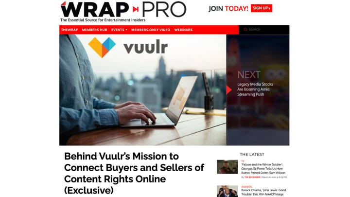 Wrap Pro Vuulr, Global Content Marketplace